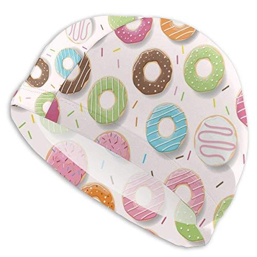 Duele Donut Springfield Gorro de baño Elasticidad Duradera Gorro de baño Ajuste Transpirable Tanto Cabello Largo Cabello Corto