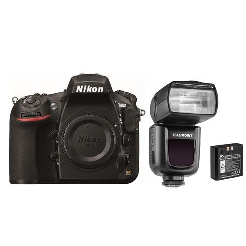 Nikon D810 DSLR Body - Bundle with Flashpoint Zoom Li-on R2 TTL On-Camera Flash Speedlight