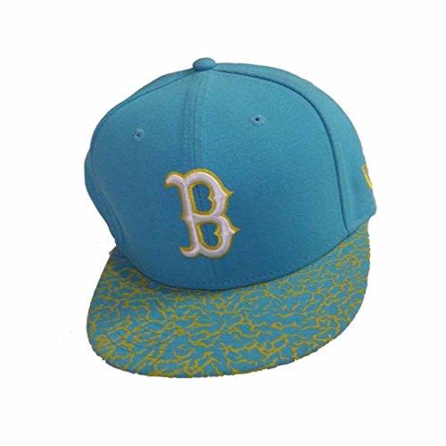 New Era MLB Boston Red Sox Crackle Visor Cap 59fifty Basic Fitted Kappe Men