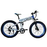 Not application Bici Electrica Adulto Fat Tire Bike Electric Mountain, 48V 1000 W,26 * 4.0Pulgadas Ruedas,con Batería De Litio Extraíble Y Cargador White