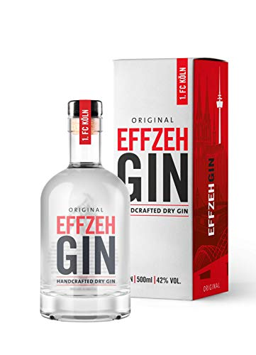 Effzeh Gin Original inkl. Geschenkverpackung - Handcrafted Dry Gin - Gin des 1. FC Köln