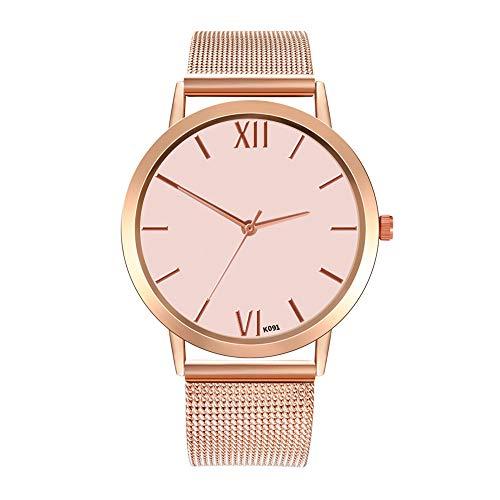 Damen Quartzuhr Uhren,Luotuo Ultra Dünne Analoge Quarz Watch Edelstahl Armbanduhr,Einfache Freizeit Armbanduhr,Exquisite koreanische Business-Luxusuhren für Frauen Handschmuck