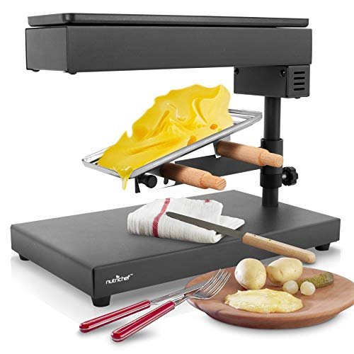 Electric Raclette Cheese Melter - Swiss Style Warmer Melts,...