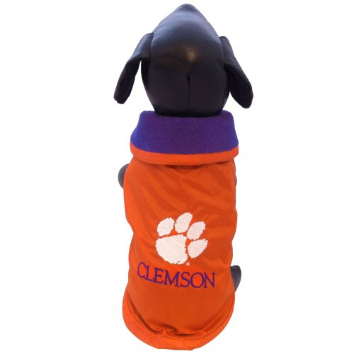 NCAA Clemson Tigers All Weather Resistant Protective Dog Outerwear, Large