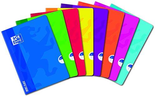 Oxford OpenFlex 10 Cahiers Lote pequeños azulejos 5 x 5 96 páginas A4 Surtido Colores