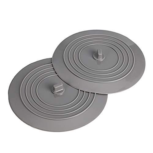 BTSKY - Tapón de goma de silicona universal para fregadero de cocina, bañera o bañera, 2 unidades, 15,2 cm, tapón de drenaje de silicona para viaje
