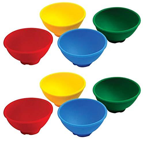 BESTONZON Silikon Mini Prise Schalen Prep Und Sever Schalen Seasoning Bowl Rührschüssel Set von 8, 6.7X6.7X3cm
