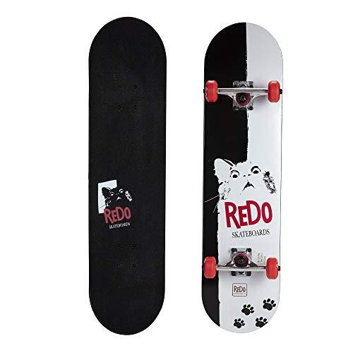 "ReDo Skateboard 31"" x 7.675"" Scarface Cat Complete Skateboard for Boys Girls Kids Teens"