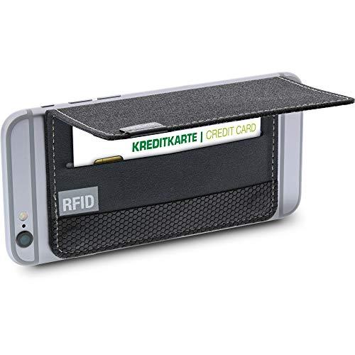 InLine 55264 - Custodia per Carte di Credito, con Protezione RFID per Smartphone, Colore: Nero