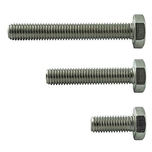 AGBERG - Tornillos hexagonales M8 x 30 mm (20 unidades) con rosca completa - Acero inoxidable VA A2 V2A - Tornillos roscados para máquina - DIN 933 - ISO 4017 | AGBERG