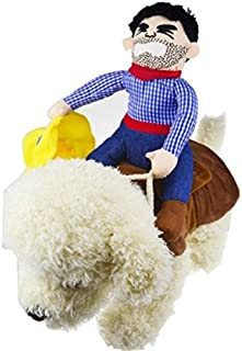 Idepet Halloween Cowboy Dog Cat Costume Clothes Novelty Funny Pets Party Cosplay Apparel Dog Riders Clothing