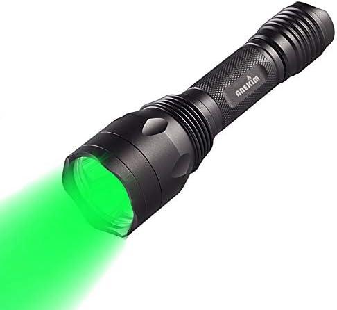 ANEKIM AC10 Tactical Flashlight Hunting Light Green 1200Lumen LED Flashlight Night Hunting Hog product image