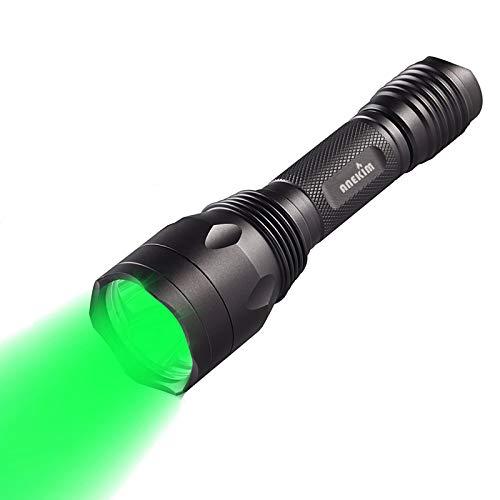 ANEKIM AC10 Hunting Light Green 1200Lumen LED Flashlight, Night Hunting Hog Predator Lights, for Bow Hog Rabbit Coyote Pig Varmint Predator