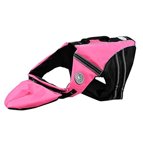 Podazz Chaleco Salvavidas para Perros Chaleco de Seguridad Reflectante Salvavidas para Mascotas Ajustable con asa Abrigo de flotación de Barbilla para Nadar, Surfear (Medium)