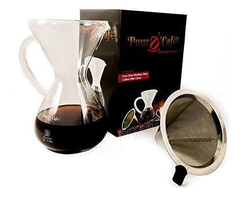 Pour D' Cafe - Large 32oz Pour Over Coffee Maker Set