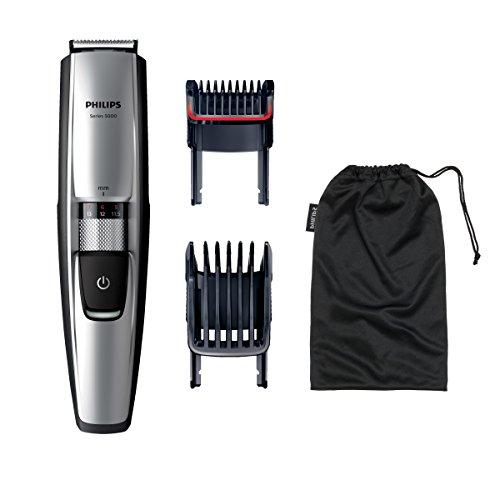 Philips BEARDTRIMMER Series 5000 BT5210/16 depiladora para la barba Chrome - Depiladoras para la barba (0,4 mm, 7 mm, Cromo, Acero inoxidable, AC/Batería, 70 min)