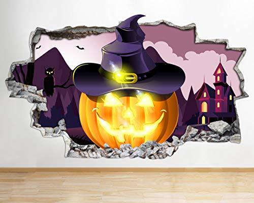 AA031 Halloween Scary Kürbis Gesicht Zertrümmert Wandtattoo 3D Kunst Aufkleber Vinyl Zimmer Kinder Schlafzimmer Baby Kindergarten Poster Wohnzimmer Jungen Mädchen Loch