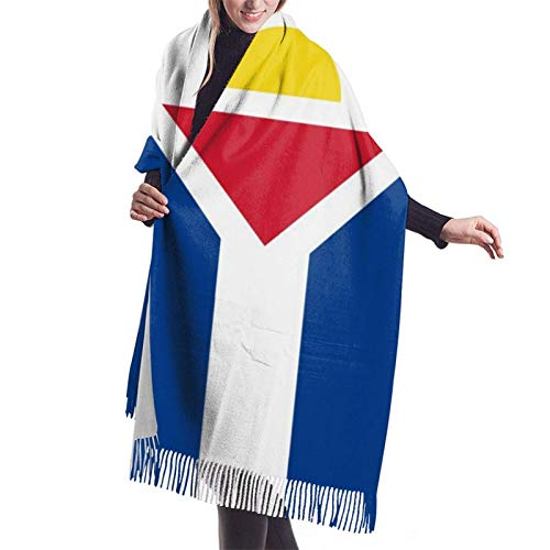 Bufanda French Saint Martin Flag Cashmere Scarf Women\'s Winter Warm Scarf Fashion Long Large Soft Cashmere Shawl Wrap Scarves