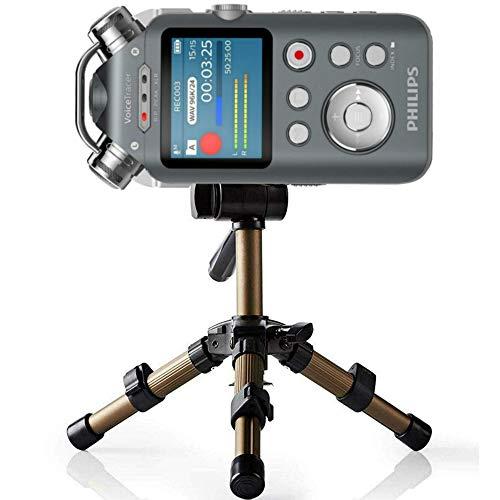 TronicXL Profi TRIPOD 17 Alu Stativ Diktiergerät Audiorekorder Aufnahmegerät 1/4 Zoll zb kompatibel für Roland Philips Tascam Sony Olympus Zoom H4n Pro H5 H6 mobile Recorder H2n Halterung