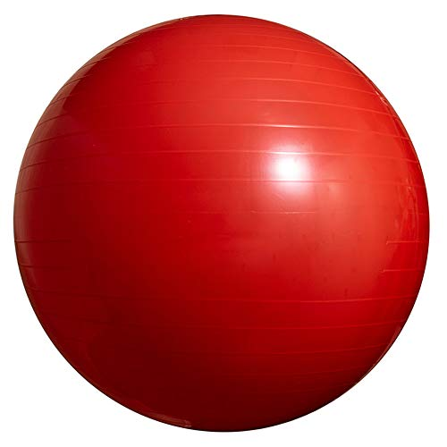 JUODVMP Yoga,Pilates,Robust,rutschfest,hypoallergisch Gymnastikball,Schwangerschaft Yoga Ball- 45 cm - 55 cm - 65 cm - 75 cm - 85 cm,Red