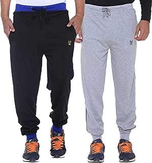 VIMAL JONNEY Men's Cotton Blended Trackpants- Combo(Pack of 2)