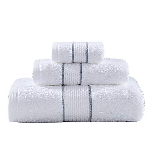 S-L Juego Toallas Toalla de Hotel Toalla de Cara Blanca para Adultos de algodón de algodón de algodón de algodón Toalla de baño (Color : White, Size : 1pc 80x140cm Towel)