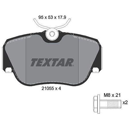 Textar Bremsbelagsatz Scheibenbremse Vorderachse Auto