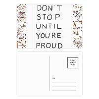 あなたが得意な引用まで止まらない 公式ポストカードセットサンクスカード郵送側20個