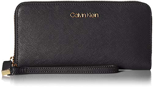 Calvin Klein Key Item Saffiano Continental Zip Around Wallet with Wristlet Strap