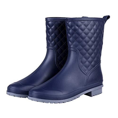 Beslip Women's Mid Calf Rain Boots