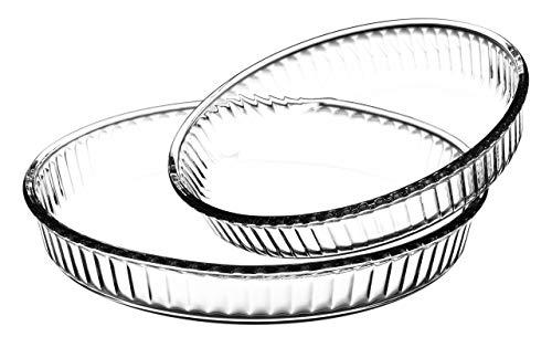 Borcam 1690038 Set 2runden Tarteformen Glas transparent 32x 32x 5cm