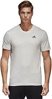 adidas Men's B47356 Essentials Basic T-Shirt, White Melange and Black, 2XL