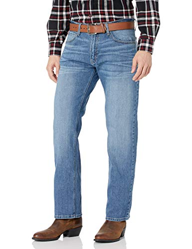 ARIAT Men's M2 Relaxed Fitted Bootcut Jeans, Stretch Brandon, 34X32