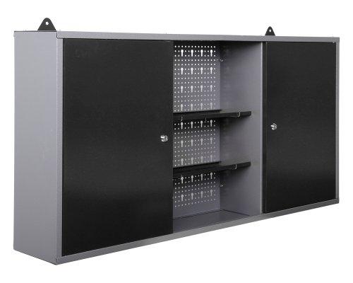 Ondis24 Werkstatteinrichtung 6-teilig Werkbank Werkzeugschrank Werkzeugwand-Lochwand mit Haken + 2x LED Touchlampe - 6