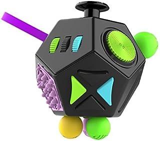 高人気 二代目 Fidget Cube [SPRING COME] アップグレード フォーカス ストレス 解消 減圧 大人 子供 暇つぶし 脳トレー 回転でき フレックス ストレス解消 集中力鍛える 減圧玩具 減圧玩具 (B2 黒) [並行輸入品]