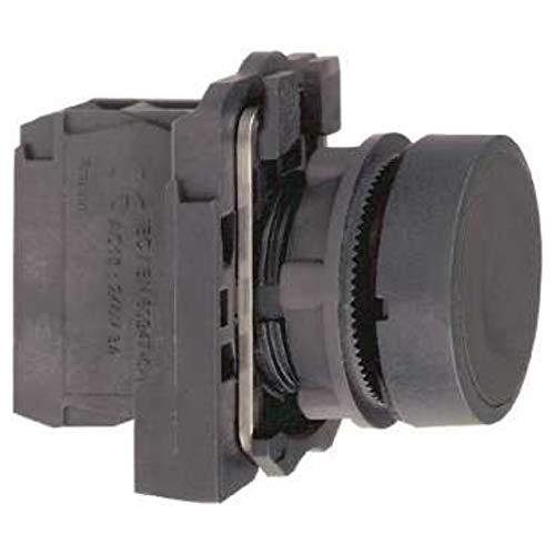 Schneider Electric xb5aa25 Harmony Push Button met bevestiging, 1 + 1 °F aandrijving, 22 mm diameter, zwart