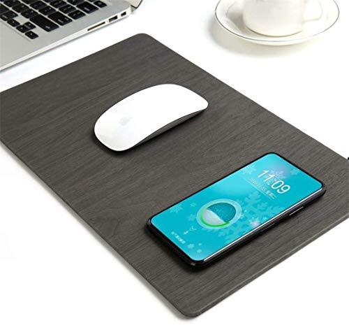 MRTYU-UY Cargador inalámbrico Mouse Pad 2 en 1 almohadilla de carga durable estable portátil seguro construido en cargador inalámbrico para todos los dispositivos ordenador Android iPhone