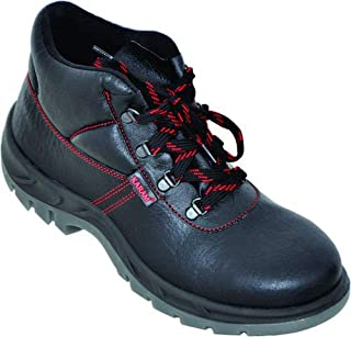 Karam Leather Black Tech Industrial Safety Shoes (8)