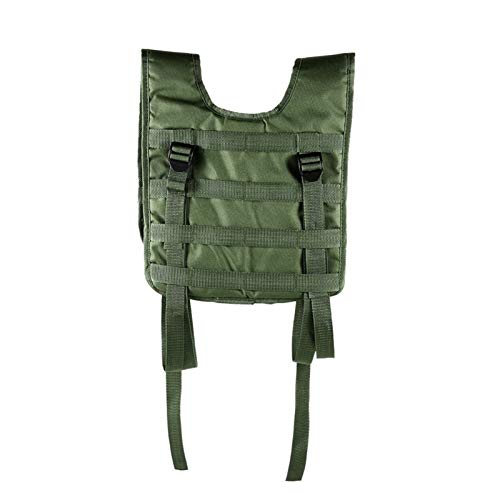 QWERBAM Military Tactical Vest Outdoor Hunting Vest Oxford Molle Vest Modular Combat Assault Airsoft Plate Carrier Training Game Fashion Adjustable (Color : Army Green)
