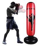 SOONHUA Saco de boxeo inflable para adultos de 170 cm, saco de boxeo de pie libre para el ejercicio en el hogar, alivio del estrés