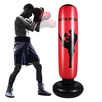 Nicoone Inflatable Punching Bag for Adult 67inch Free- Standing Boxing Punching Bag for Home Exercise Stress Relief
