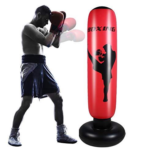 SOONHUA Aufblasbarer Boxsack für Erwachsene, 170 cm freistehender Boxsack für Kinder Kinder Boxing Target Bag für den Heimtraining Stressabbau