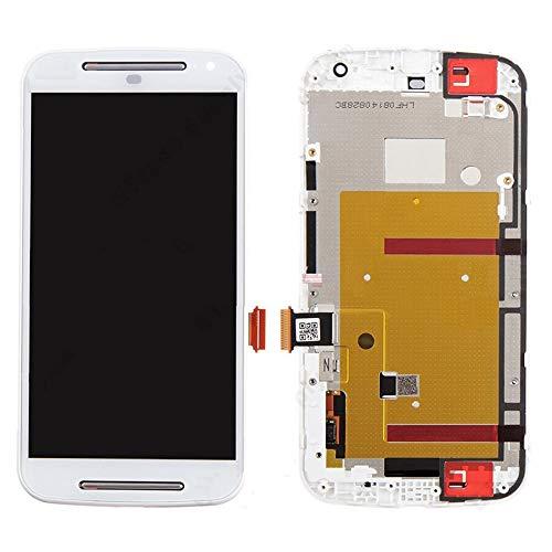 Motorola-Touchscreen 3 in 1 (LCD + Frame + Touch Pad) Digitizer-Baugruppe for Motorola Moto G2 (Schwarz) (Color : Weiß)