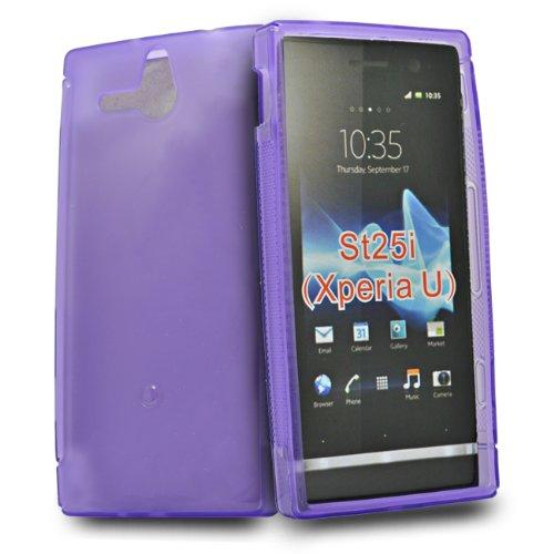 Accessory Master - Custodia in Gel Silicone per Sony Xperia U St25i, Colore: Viola