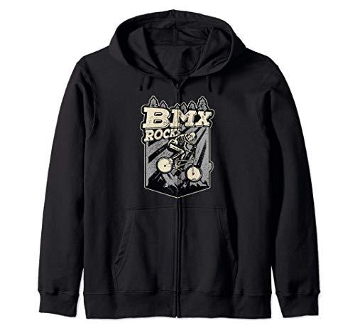 BMX Rocks Esqueleto Jinete De BMX Disfraz De Halloween Sudadera con Capucha