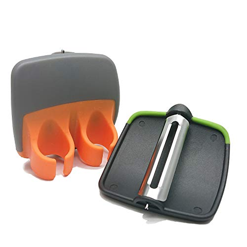 Goiio 2 PCS Palm Peeler with Comfortable Rubber Finger Grip Stainless Steel Peeler Comfortable to Peel Potato amp Carrot amp Cucumber