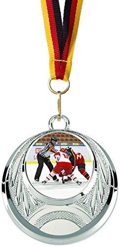 Verlag Reiner Kullack 10er-Set Medaillen »Eishockey«, mit 25 mm Sportfoto-Emblem (Folie, bunt)