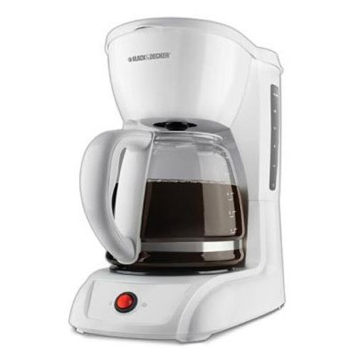 Black & Decker CM1200W 12-Cup Switch Coffeemaker, White