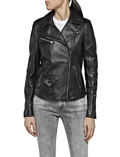 Replay Damen W7557 .000.83056 Jacke, Schwarz (Black 10), X-Small (Herstellergröße: XS)