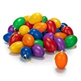 com-four® 36x Ostereier zum Aufhängen - Osterdeko in unterschiedlichen Pastellfarben - Deko Ostereier - Größe: 6 cm (Set1 - bunt 6cm - 36 Stück)